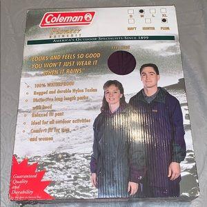 Coleman rain suit in plum size medium